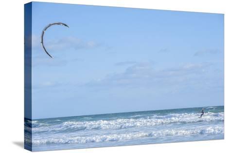 USA, Florida, New Smyrna Beach, kite surfer.-Lisa S^ Engelbrecht-Stretched Canvas Print