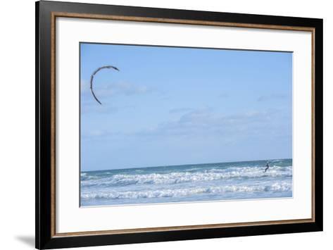 USA, Florida, New Smyrna Beach, kite surfer.-Lisa S^ Engelbrecht-Framed Art Print