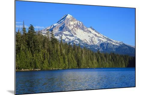 USA, Oregon, Mt. Hood National Forest, boaters enjoying Lost lake.-Rick A^ Brown-Mounted Photographic Print