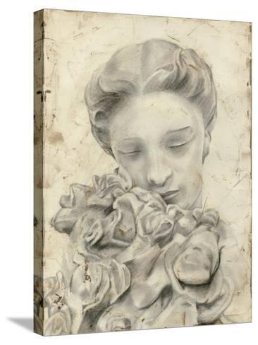 Statue in the Garden I-Megan Meagher-Stretched Canvas Print