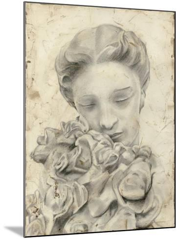 Statue in the Garden I-Megan Meagher-Mounted Art Print