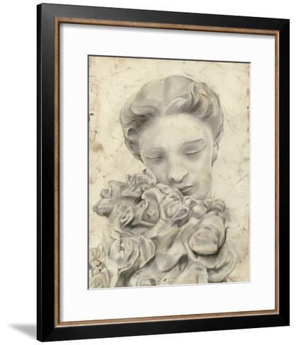 Statue in the Garden I-Megan Meagher-Framed Art Print