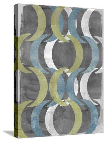 Geometric Repeat I-Jennifer Goldberger-Stretched Canvas Print