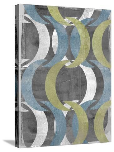 Geometric Repeat II-Jennifer Goldberger-Stretched Canvas Print