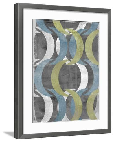 Geometric Repeat II-Jennifer Goldberger-Framed Art Print