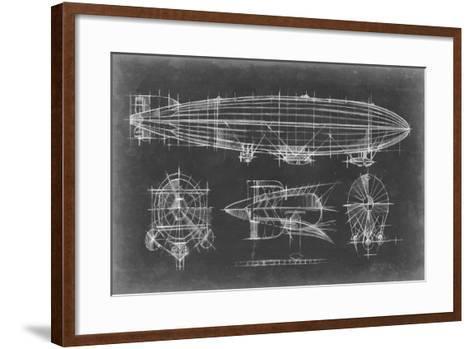 Airship Blueprint-Ethan Harper-Framed Art Print
