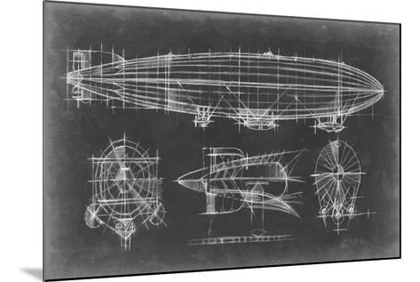 Airship Blueprint-Ethan Harper-Mounted Art Print