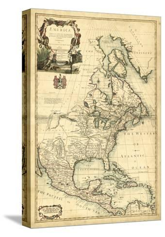 Antique Map of America III--Stretched Canvas Print