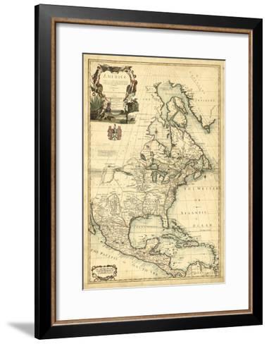 Antique Map of America III--Framed Art Print