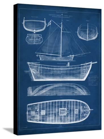 Antique Ship Blueprint II-Vision Studio-Stretched Canvas Print