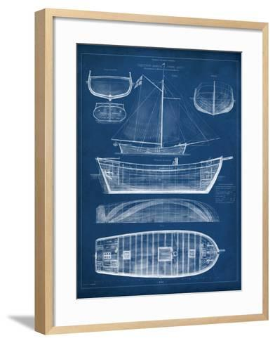Antique ship blueprint ii art print by vision studio the new art antique ship blueprint ii vision studio framed art print malvernweather Gallery