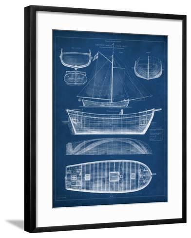 Antique Ship Blueprint II-Vision Studio-Framed Art Print