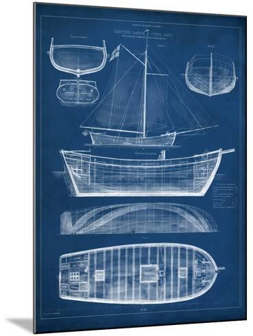 Antique Ship Blueprint II-Vision Studio-Mounted Art Print