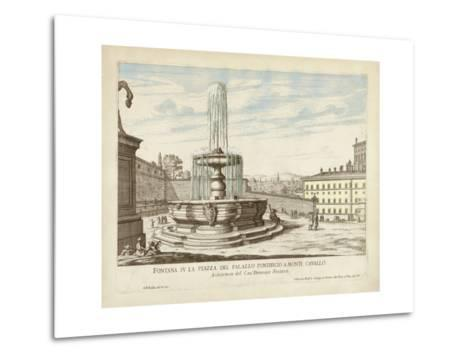 Fountains of Rome V-Vision Studio-Metal Print