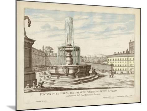 Fountains of Rome V-Vision Studio-Mounted Art Print