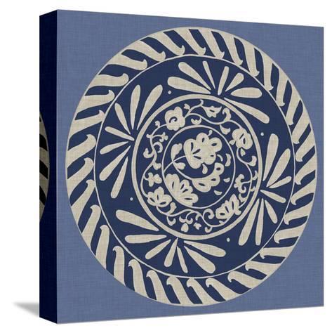 Indigo Earthenware II-Chariklia Zarris-Stretched Canvas Print