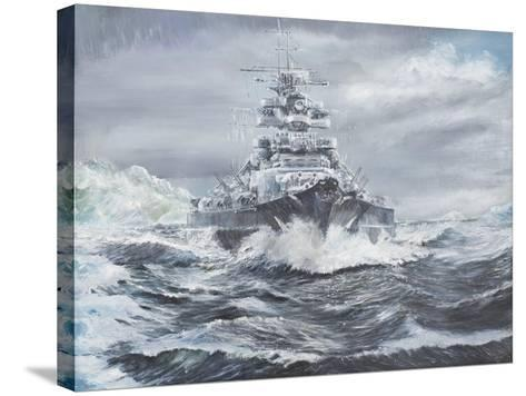 Bismarck Off Greenland Coast 1900Hrs, May 23, 1941-Vincent Booth-Stretched Canvas Print