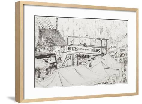 Sierre to Zinal Mountain Race, the Finish 2012-Vincent Booth-Framed Art Print