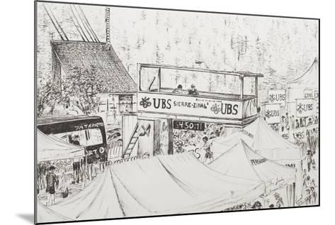 Sierre to Zinal Mountain Race, the Finish 2012-Vincent Booth-Mounted Giclee Print