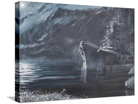 The Lone Queen of the North, Tirpitz, Norway 1944-Vincent Booth-Stretched Canvas Print