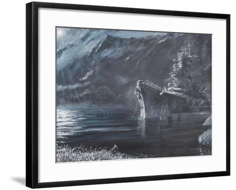 The Lone Queen of the North, Tirpitz, Norway 1944-Vincent Booth-Framed Art Print