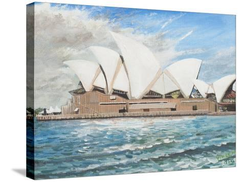 Sydney Opera House-Vincent Booth-Stretched Canvas Print