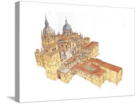 Salamanca Cathedral, Spain-Fernando Aznar Cenamor-Stretched Canvas Print