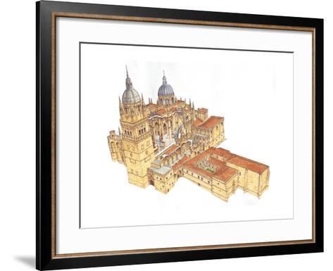 Salamanca Cathedral, Spain-Fernando Aznar Cenamor-Framed Art Print