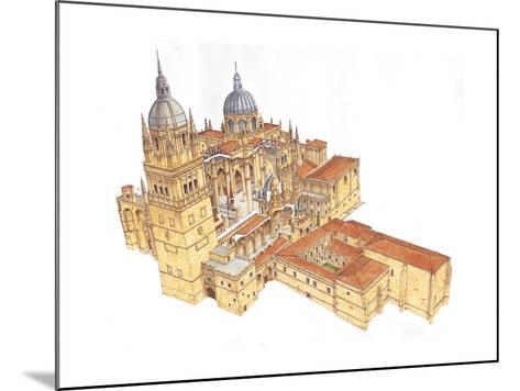 Salamanca Cathedral, Spain-Fernando Aznar Cenamor-Mounted Giclee Print