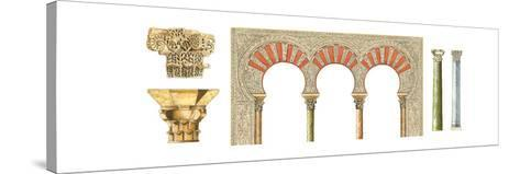 Spanish Islamic Caliphate Art, Arches, Capitals and Columns-Fernando Aznar Cenamor-Stretched Canvas Print