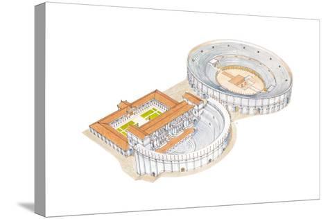 Roman Theatre and Amphitheatre, Reconstruction, Merida, Spain-Fernando Aznar Cenamor-Stretched Canvas Print