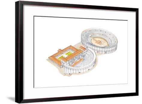 Roman Theatre and Amphitheatre, Reconstruction, Merida, Spain-Fernando Aznar Cenamor-Framed Art Print