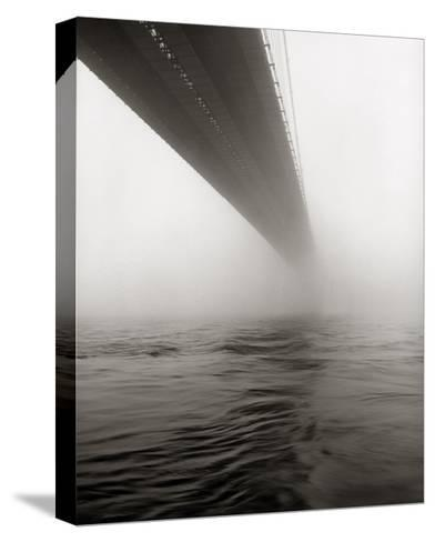 Brooklyn Bridge Fog-Henri Silberman-Stretched Canvas Print
