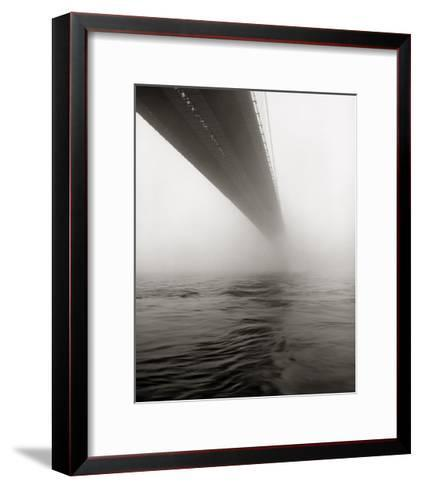 Brooklyn Bridge Fog-Henri Silberman-Framed Art Print