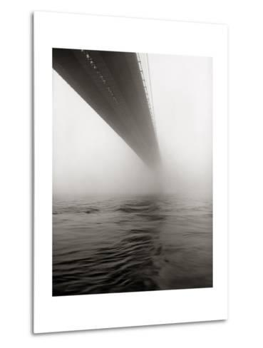Brooklyn Bridge Fog-Henri Silberman-Metal Print