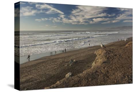 Ocean Beach Afternoon-Henri Silberman-Stretched Canvas Print