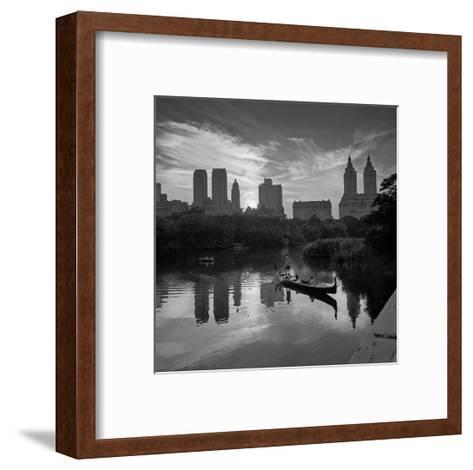 Gondolier Central Park at Dusk-Henri Silberman-Framed Art Print