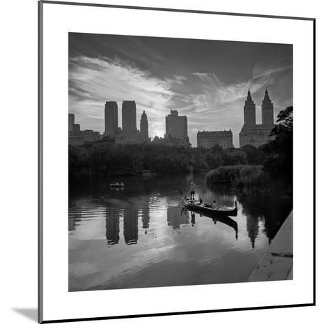 Gondolier Central Park at Dusk-Henri Silberman-Mounted Photographic Print