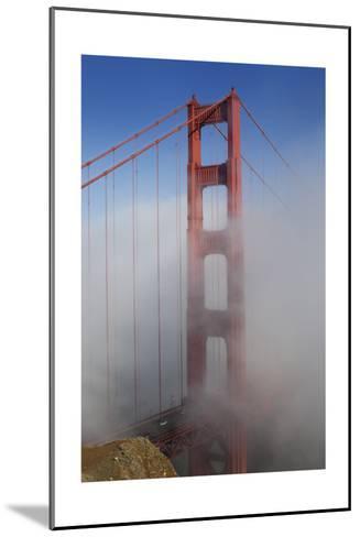 Golden Gate Bridge Tower in Fog 1-Henri Silberman-Mounted Photographic Print