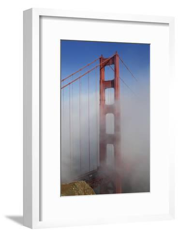 Golden Gate Bridge Tower in Fog 1-Henri Silberman-Framed Art Print