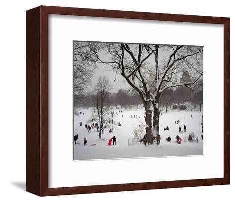 Prospect Park in Snow-Henri Silberman-Framed Art Print