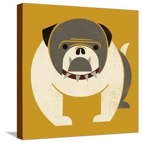 Plakastil Bulldog--Stretched Canvas Print