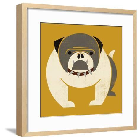 Plakastil Bulldog--Framed Art Print