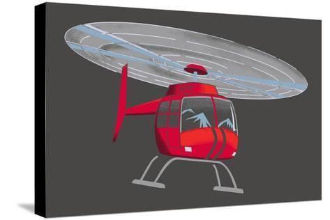Helicopter--Stretched Canvas Print