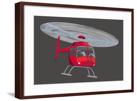 Helicopter--Framed Art Print