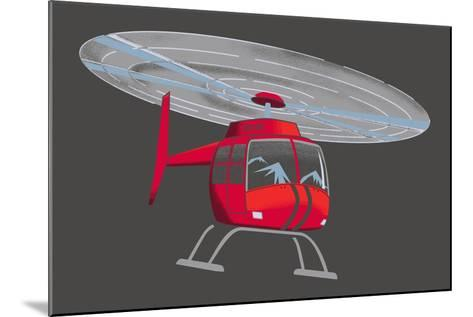Helicopter--Mounted Giclee Print