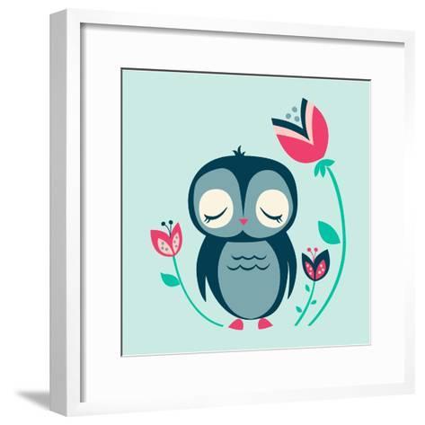 Baby Owl--Framed Art Print