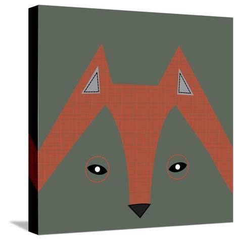 Fox Face--Stretched Canvas Print