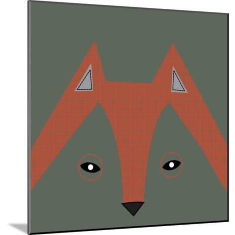 Fox Face--Mounted Giclee Print