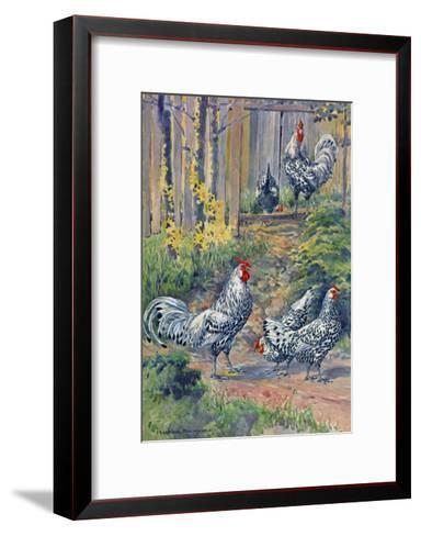 A View of the Silver Spangled Variety of Hamburgs-Hashime Murayama-Framed Art Print